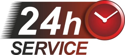 An icon that indicates this company provides 24 hour service.