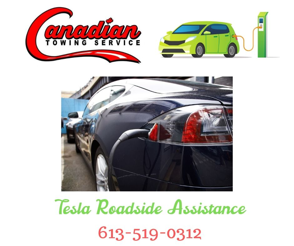 graphic showing Canadian Towing roadside assistance